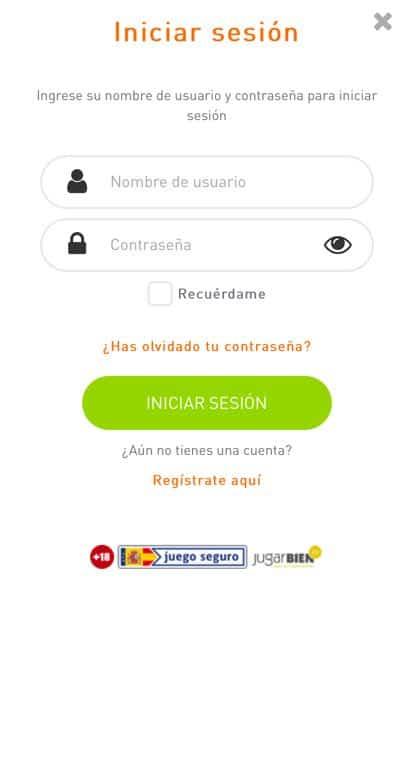 Casino777 Screenshot Registro