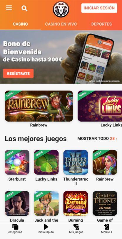 LeoVegas Casino en línea inicio