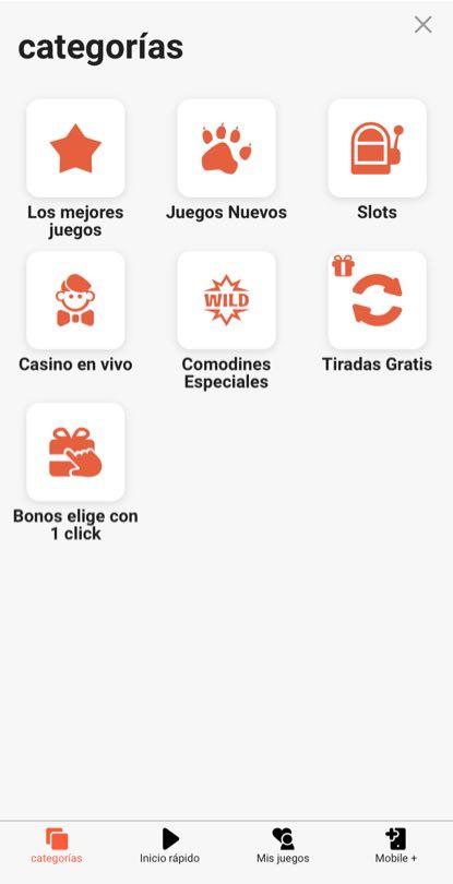 LeoVegas Casino en línea menu