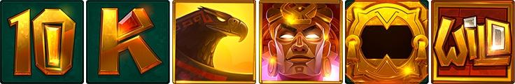 Aztec Gold Megaways símbolos