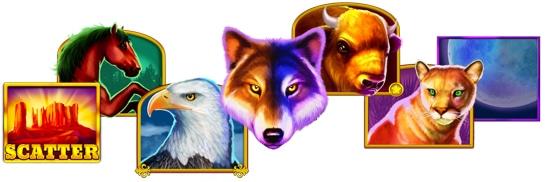 Wolf Gold : los símbolos