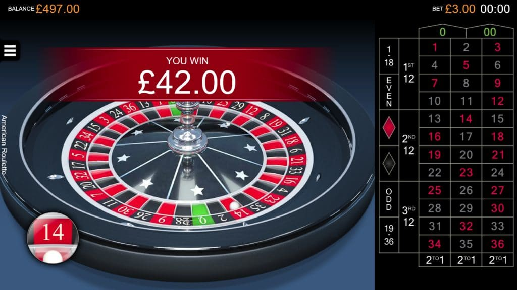 american roulette screenshot wining