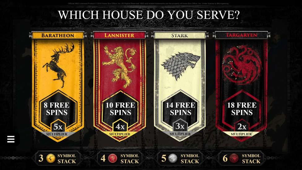 las casas del juego de tronos