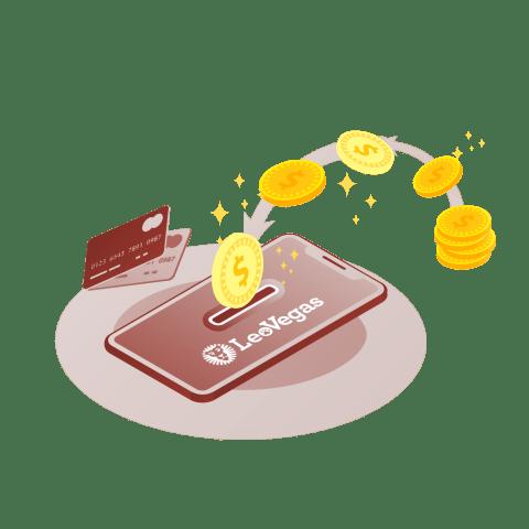 Métodos de retirada de efectivo disponibles en LeoVegas