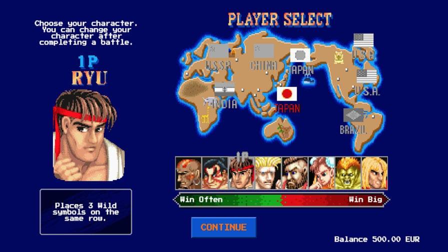 selección del jugador