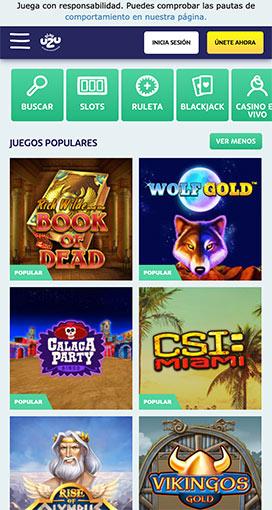 lista de los juegos del casino playuzu