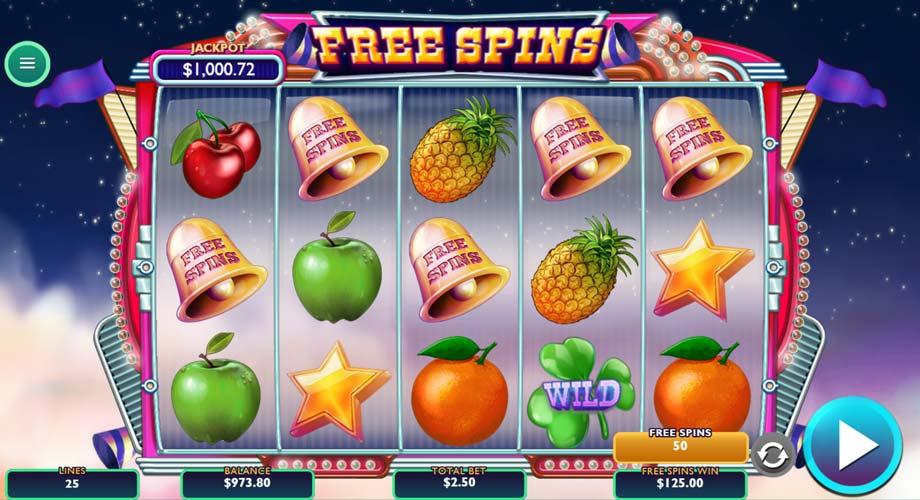 freespin captura del juego lucky fruits