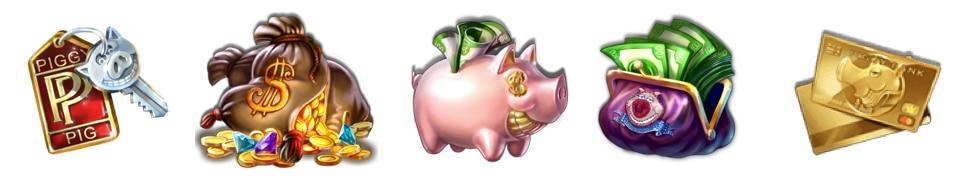 Piggy Riches Símbolos