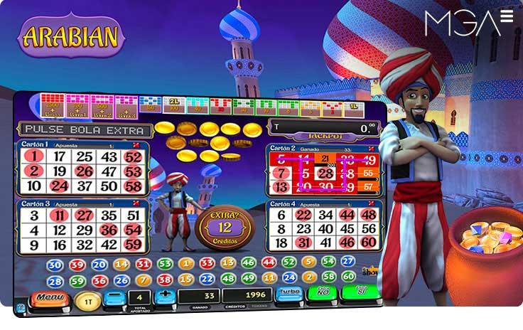 Arabian Bingo Online por MGA