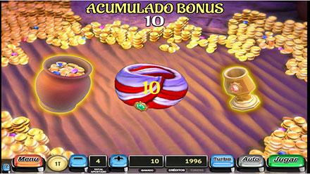 Minijuego Arabian Bingo