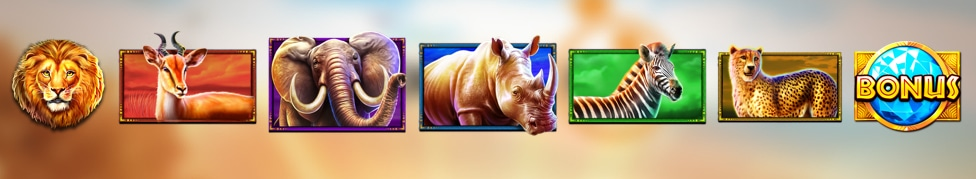 Los símbolos de Safari King Slot