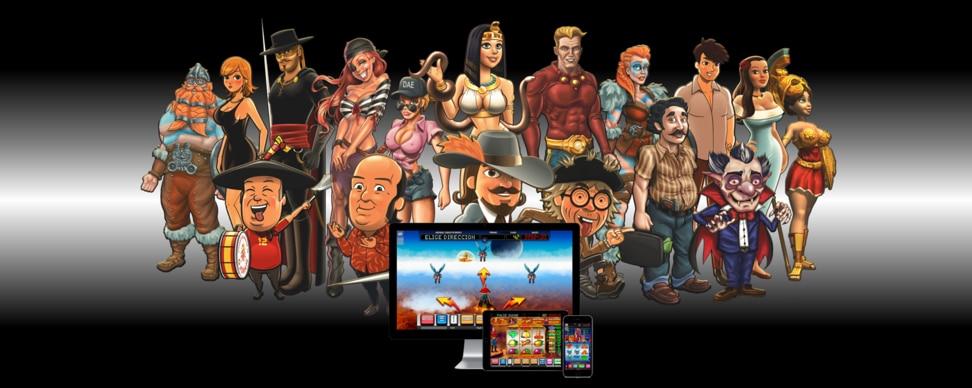 Los personajes de los juegos de MGA