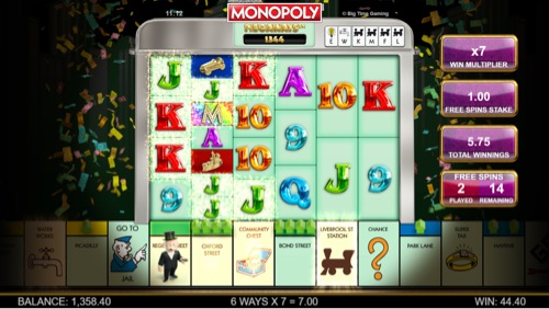 Captura de Pentalla de Monopoly Megaways