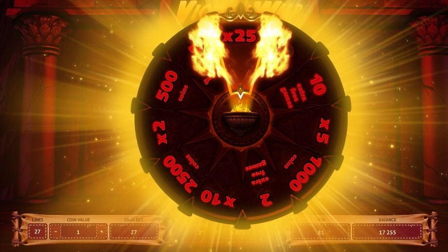 Temple Free Spins feature